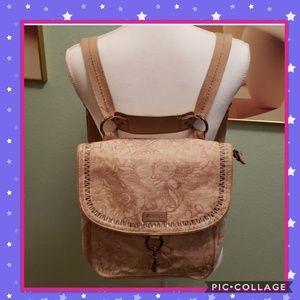 Rose gold Sakroots convertible bag/backpack